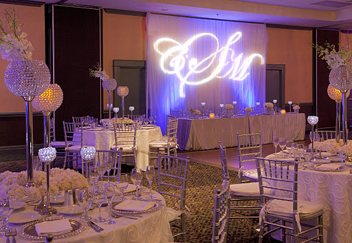 Wedding decor ideas a miami brides diamond vision miami talk white hydrangeas surrounded the bases of the holders silver charger plates with crystal beading coordinated with the centerpieces junglespirit Image collections